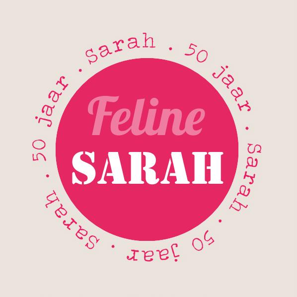 Fabulous Personaliseer hier jouw verjaardagskaart voor 50 jaar Sarah #ML33