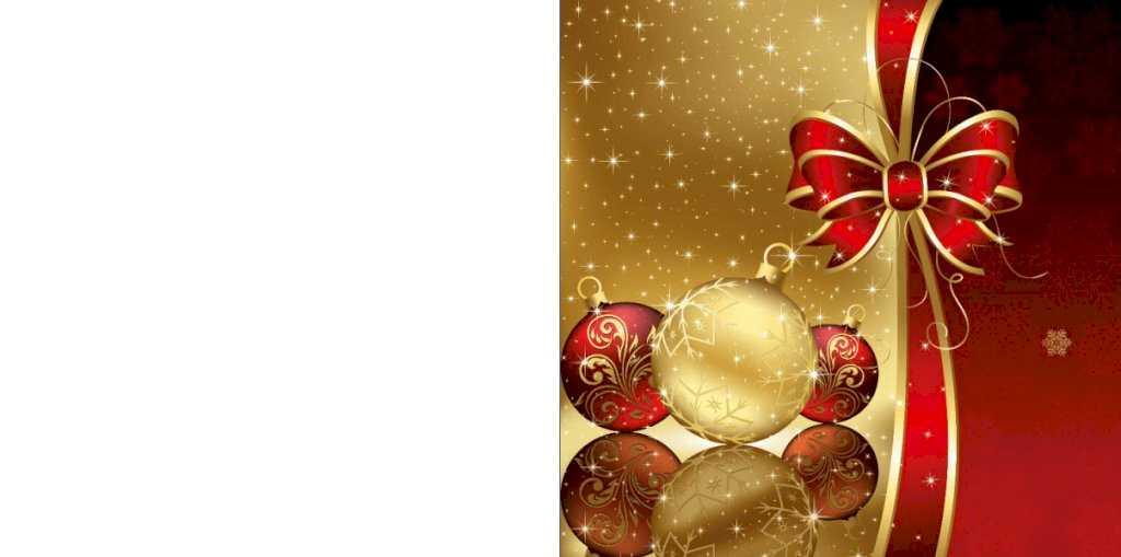 Klassieke Kerstkaart Met Chique Goud En Rode Kleuren
